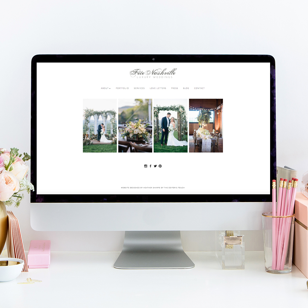 Fete Nashville Website Designer | Heather Sharpe of The Editor's Touch