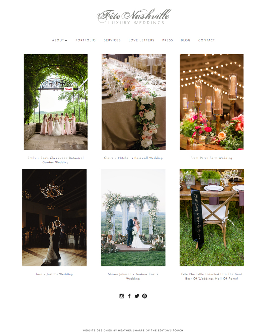 Fete Nashville Blog Designer | The Editor's Touch
