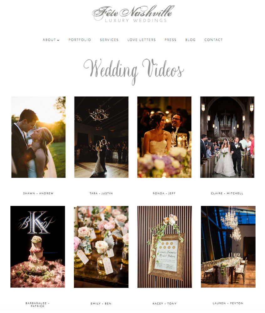Fete Nashville Website Design | The Editor's Touch