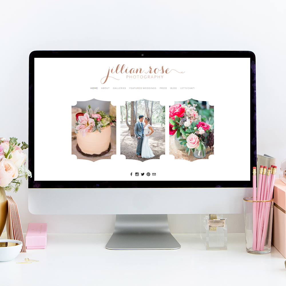 Website Designer for Jillian Rose Photography | The Editor's Touch
