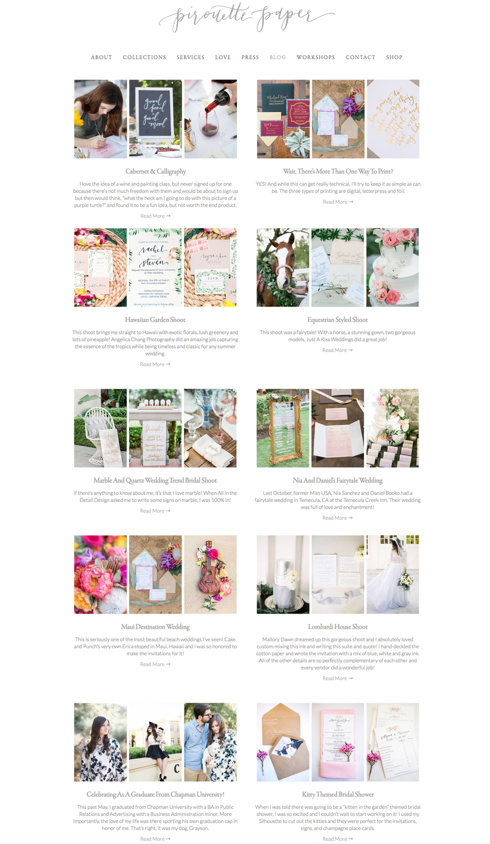 theeditorstouch.com | The Editor's Touch | Squarespace Website Designer | Web Design for Pirouette Paper Company