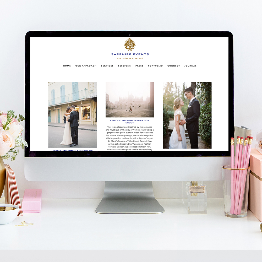 theeditorstouch.com | Sapphire Events Blog Design | The Editor's Touch | Squarespace Website Designer