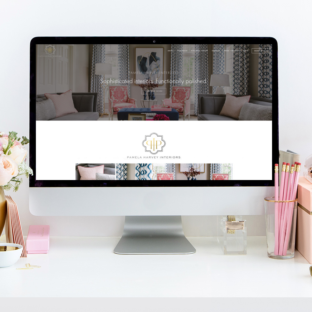 theeditorstouch.com | Website Designer For Interior Designers | Pamela Harvey Interiors | Squarespace Website Designer | The Editor's Touch