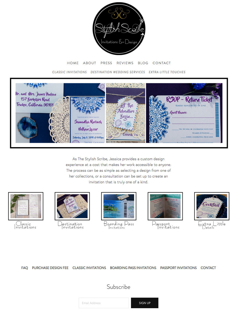 theeditorstouch.com | Website Design For The Stylish Scribe | Reno Wedding Invitations | Squarespace Website Designer