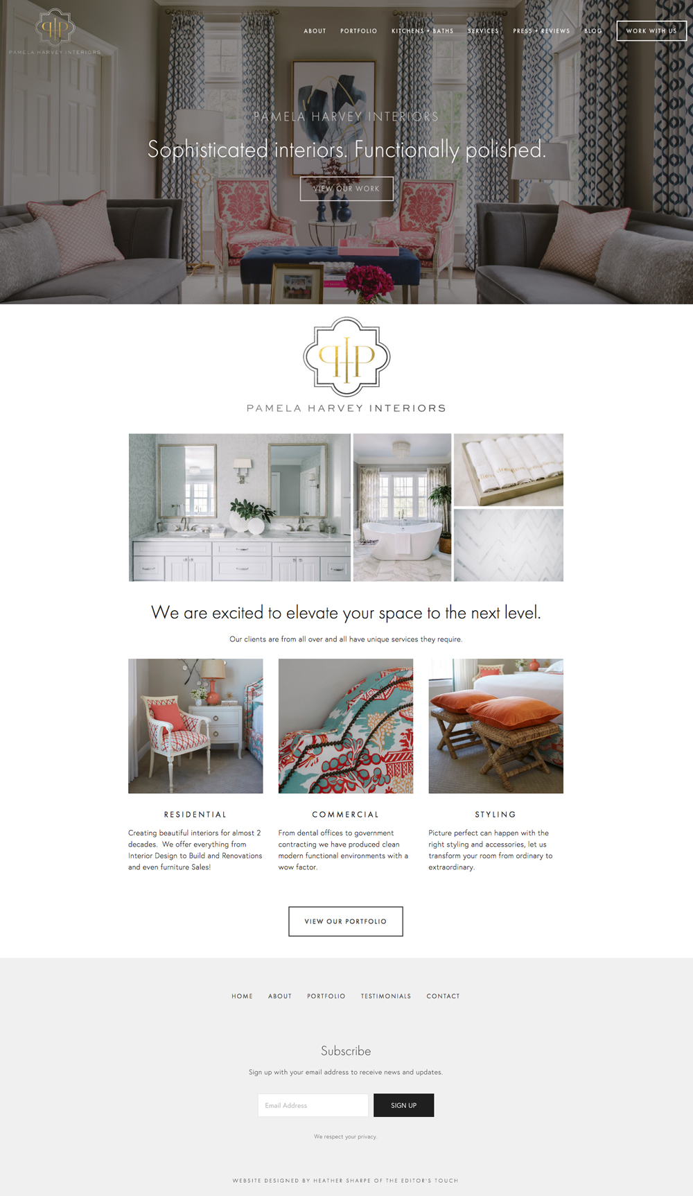 Website Design For Pamela Harvey Interiors | Squarespace Website Designer  | The Editor's Touch