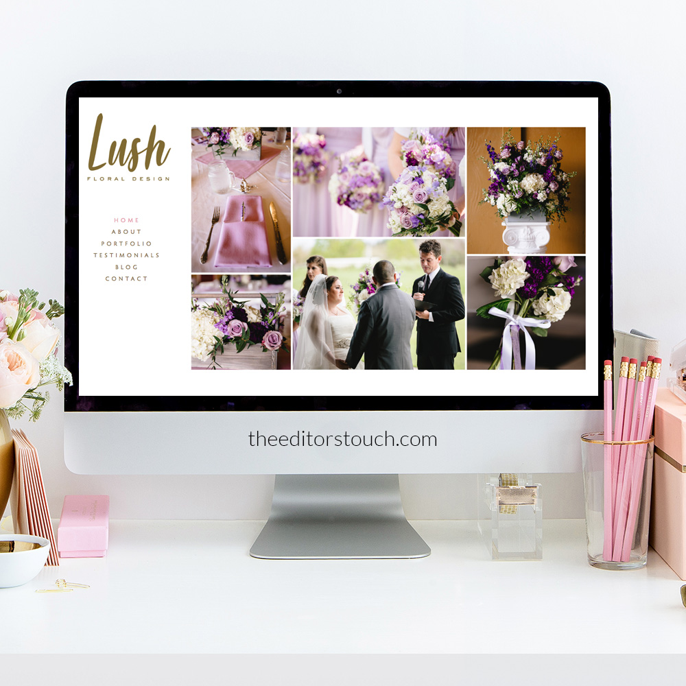 theeditorstouch.com | Lush Floral Design in Portland Oregon | Squarespace Website Designer For Wedding Industry Professionals