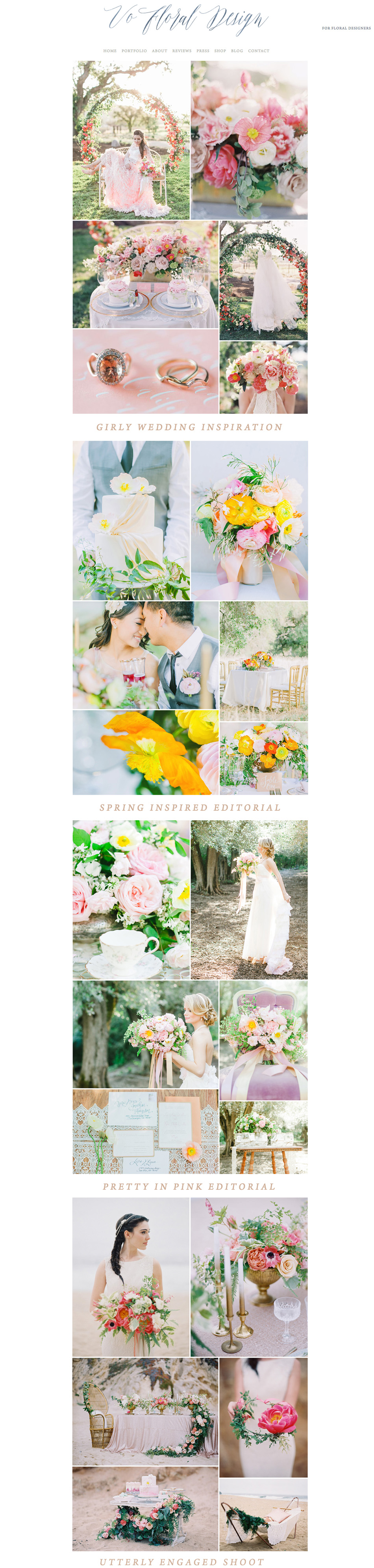 theeditorstouch.com | Squarespace Website Designer For Wedding Professionals | The Editor's Touch | Vo Floral Design