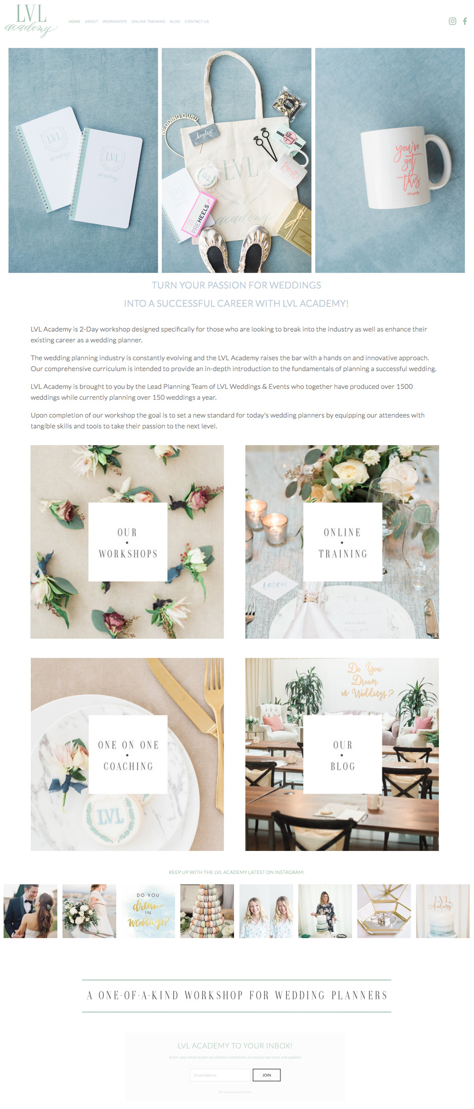 theeditorstouch.com | LVL Academy Website Designer | Workshops for Wedding Planners | The Editor's Touch