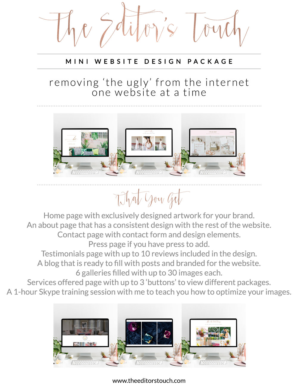 theeditorstouch.com | Mini Website Design | Website in a Day | The Editor's Touch | Squarespace Website Designer for Wedding Professionals and Creatives