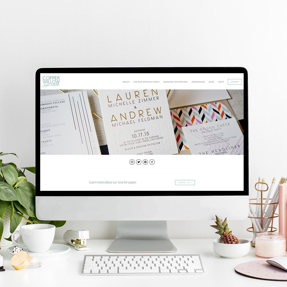 Website Designer for Copper Willow Paper Studio | The Editor's Touch