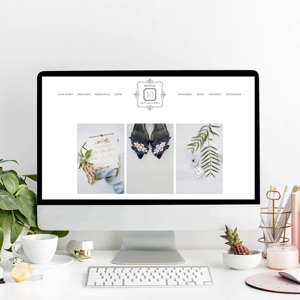 Santa Barbara Website Design For Wedding Professionals | Magnolia Event Design