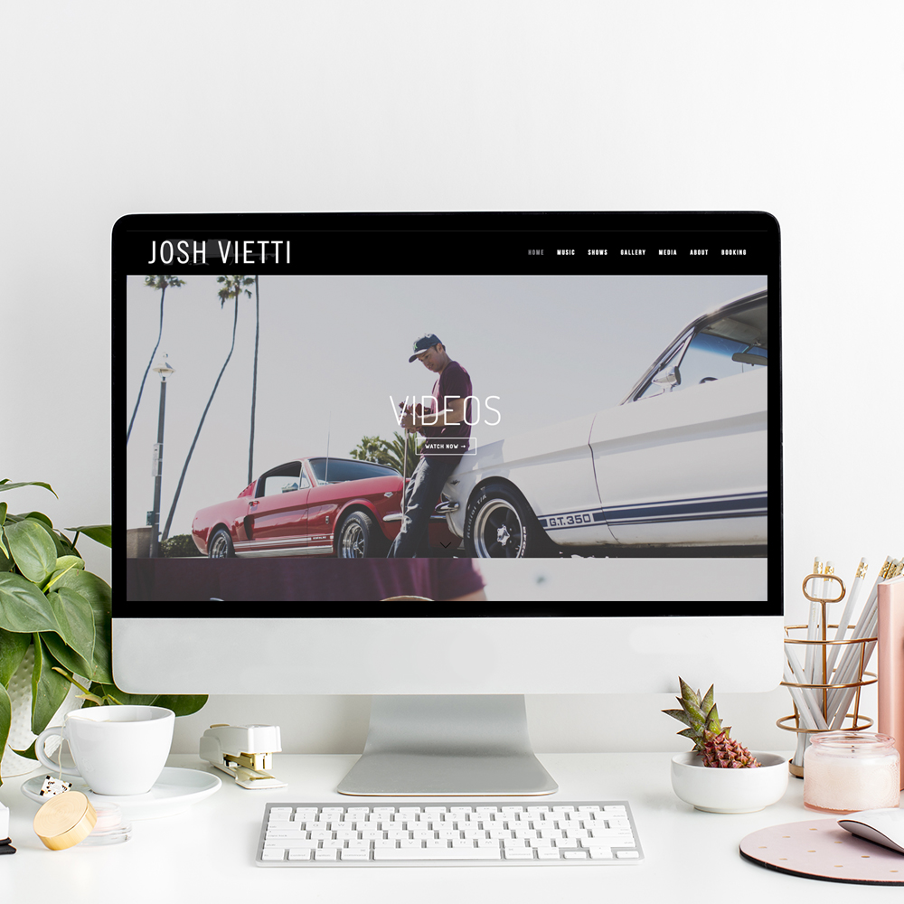 Website Designer for Josh Vietti