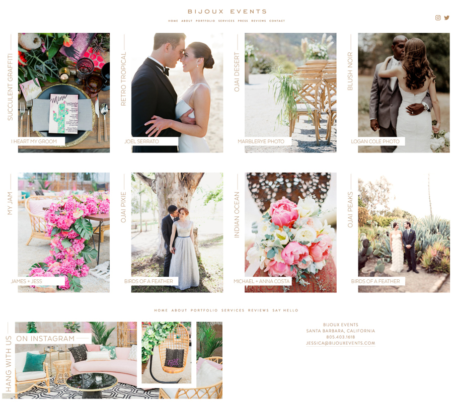 theeditorstouch.com | Bijoux Events | Squarespace Website Designer for Wedding Professionals