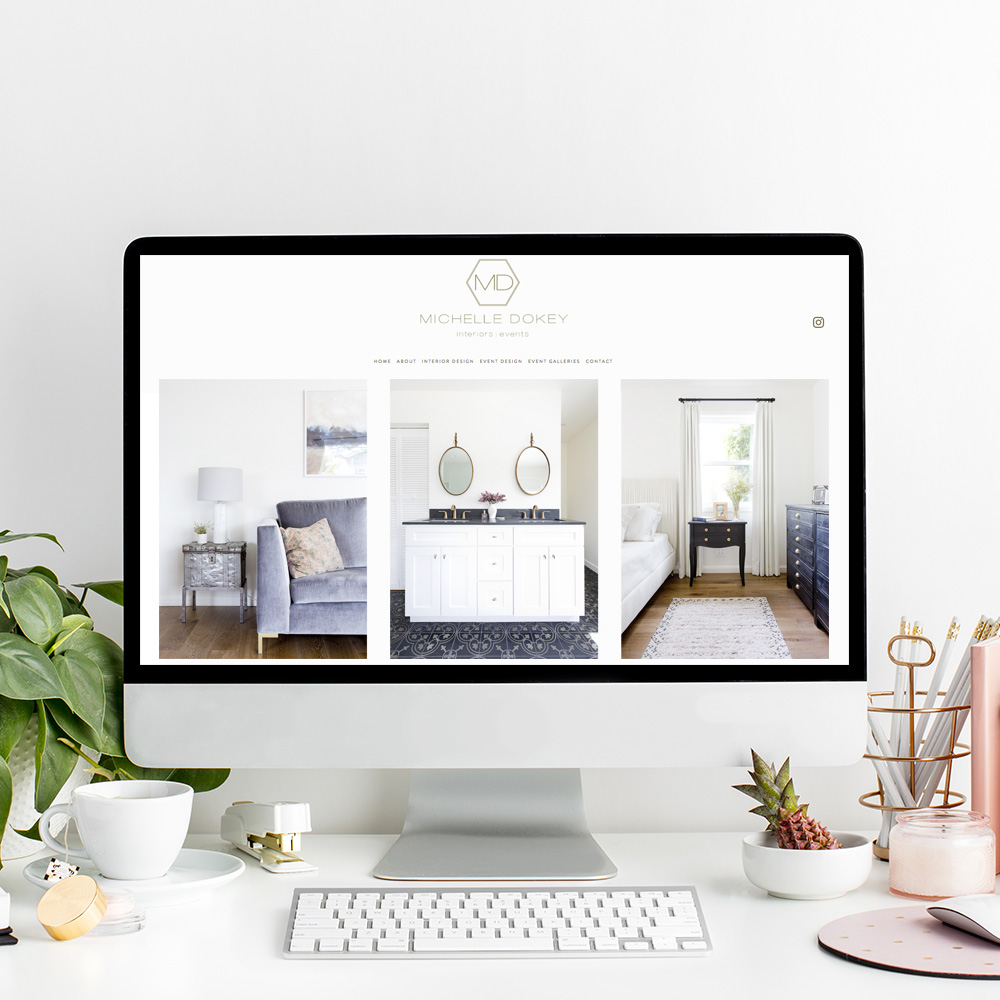 Website Design for Michelle Dokey Interiors | The Editor's Touch
