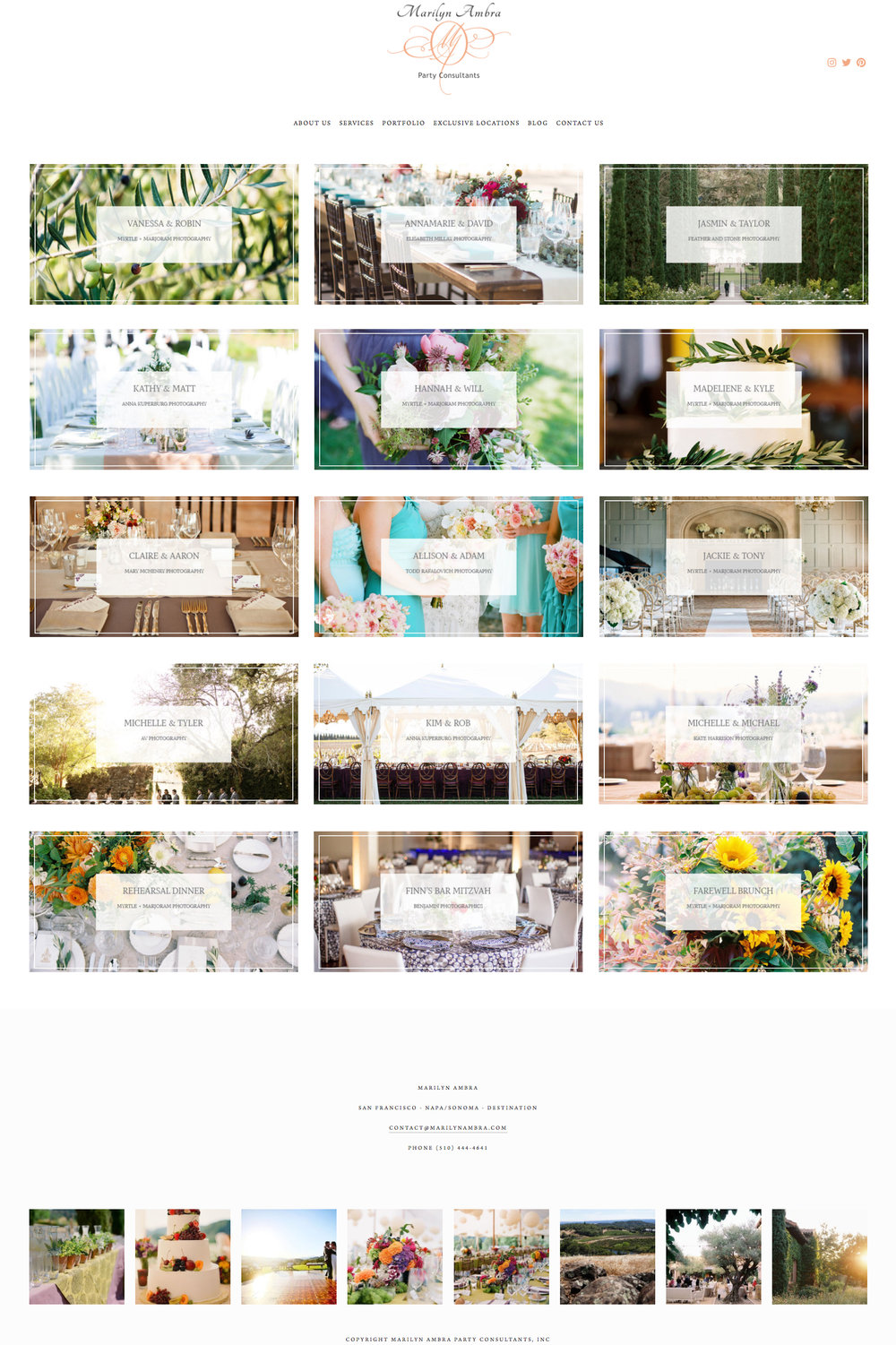 Marilyn Ambra Party Consultants in Napa California | Website Design by The Editor's Touch