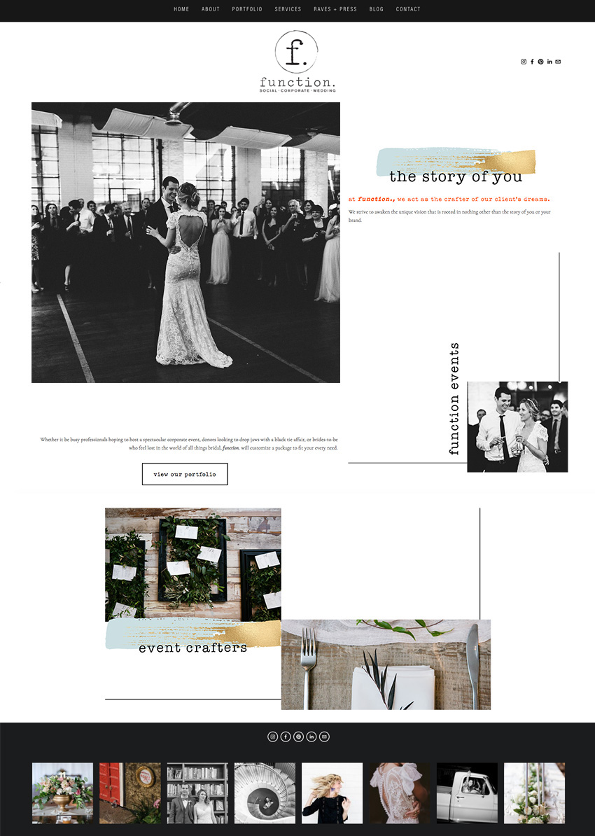 Squarespace Website Design for Our Function Events in Atlanta | Web Designer For Wedding Industry Professionals and Creative Business Owners