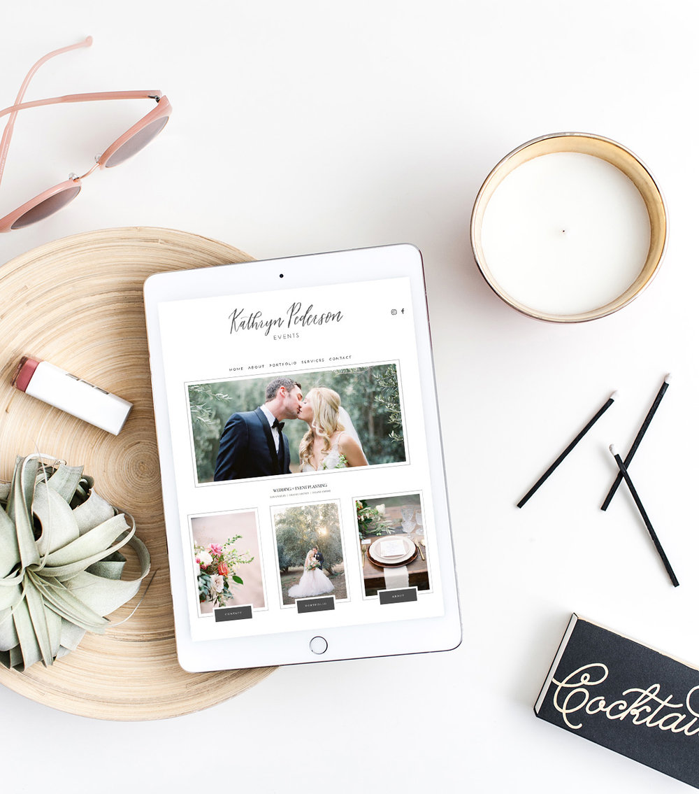 Website Design for Kathryn Pederson Events | The Editor's Touch Squarespace Designer