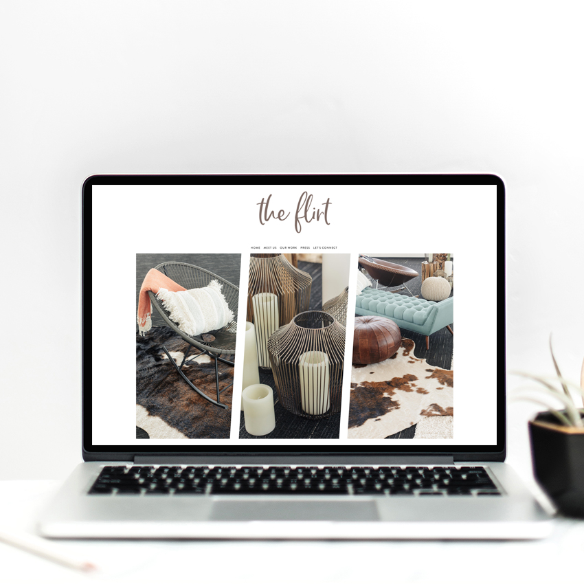 The Flirt | Semi Custom Website Design Templates | The Editor's Touch