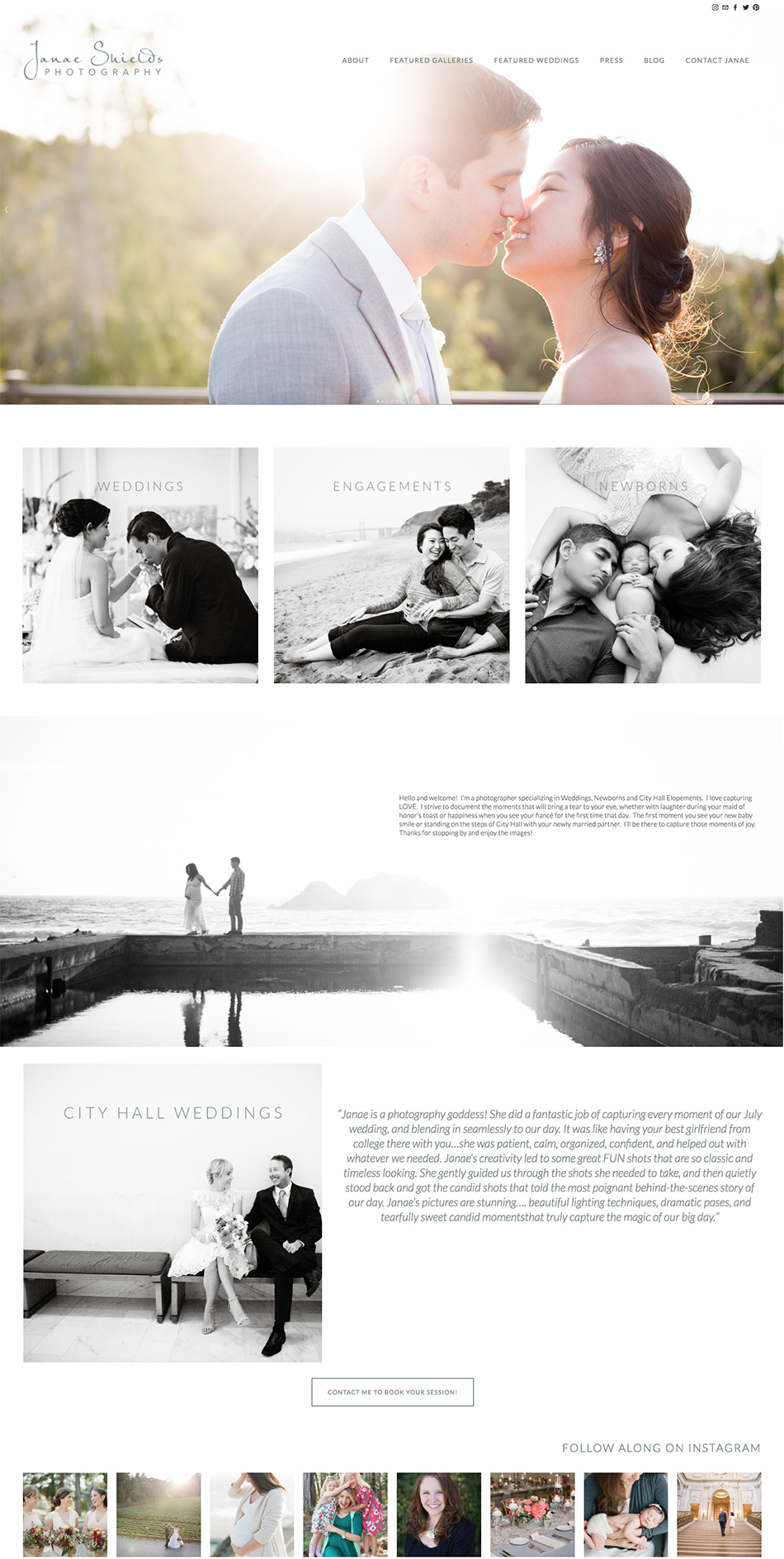 Website Designer for Wedding Professionals and Photographers | The Editor's Touch
