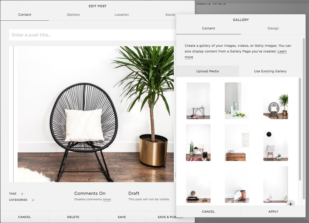 Adding Images to a blog post using Squarespace | Heather Sharpe | The Editor's Touch