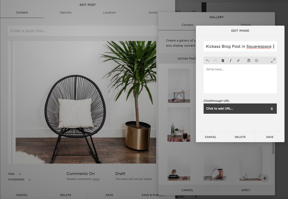 Adding 'alt text' in a Squarespace Blog Post | The Editor's Touch