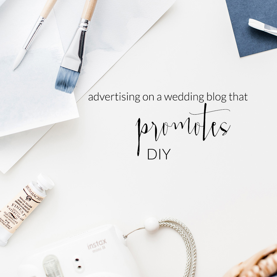 Advertising On A Wedding Blog That Promotes DIY