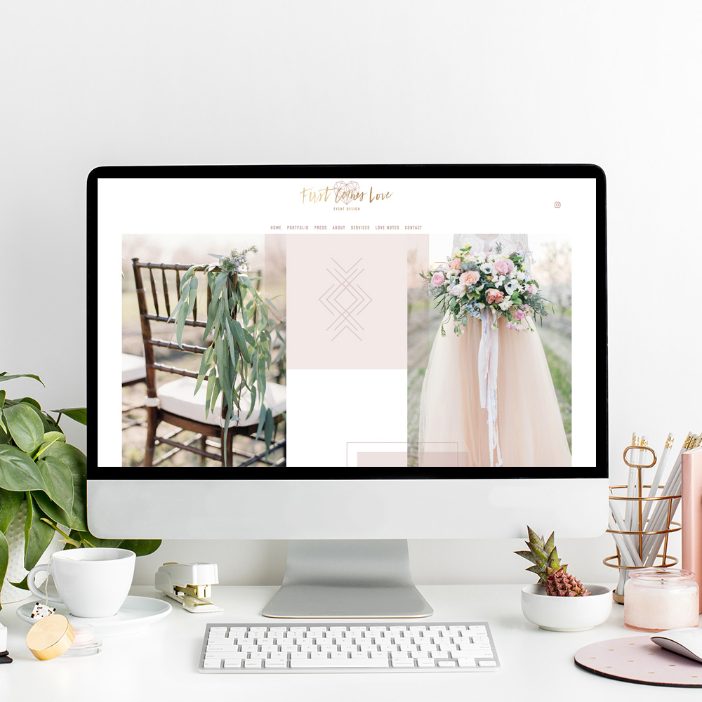 First Comes Love Wedding Planning | The Editor's Touch Website Designer