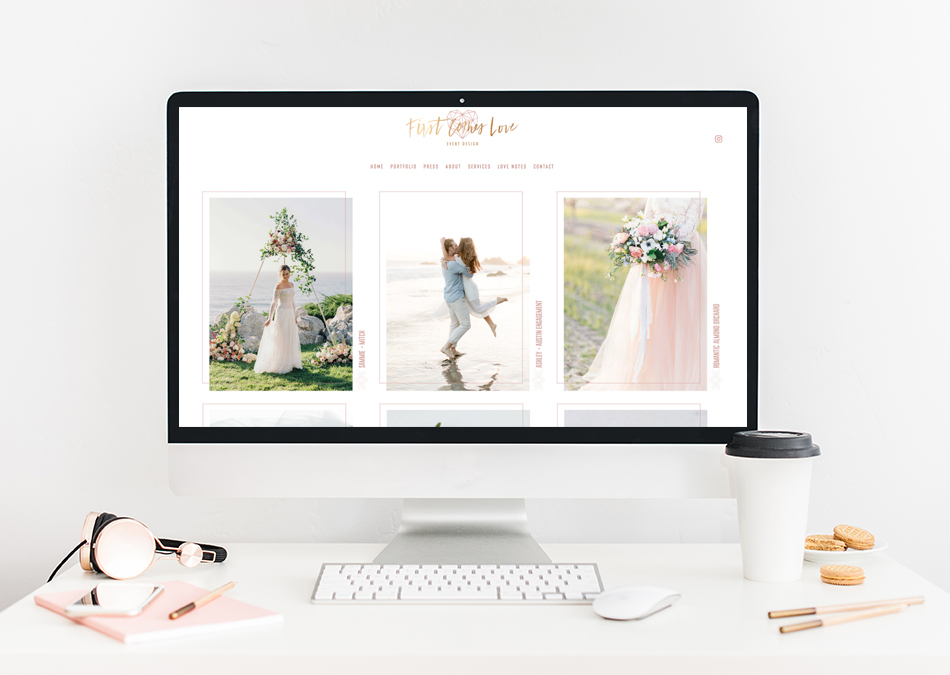 Website Designer For Beverly Hills Wedding Planning Boutique First Comes Love Events | The Editor's Touch
