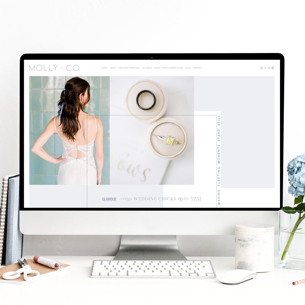 Squarespace Website Designer for Wedding Professionals and Photographers | The Editor's Touch Business Blog | Molly + Co Web Design