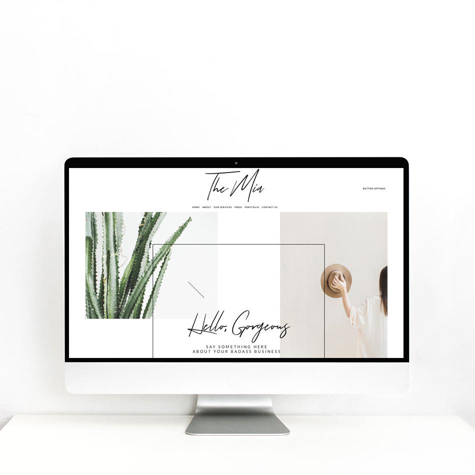 The Editor's Touch | Squarespace Website Designer | Semi-Custom The Mia