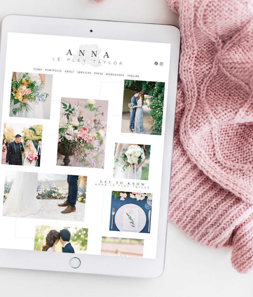Website Design for Anna Le Pley Taylor Floral Design | The Editor's Touch Squarespace Web Designer