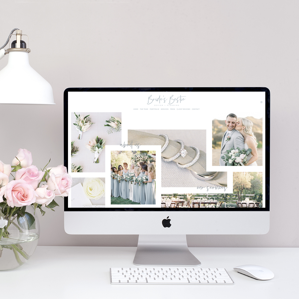 theeditorstouch.com | Bride's Bestie Website Designer | Semi Custom Squarespace Website Design by The Editor's Touch | Wedding Industry Expert