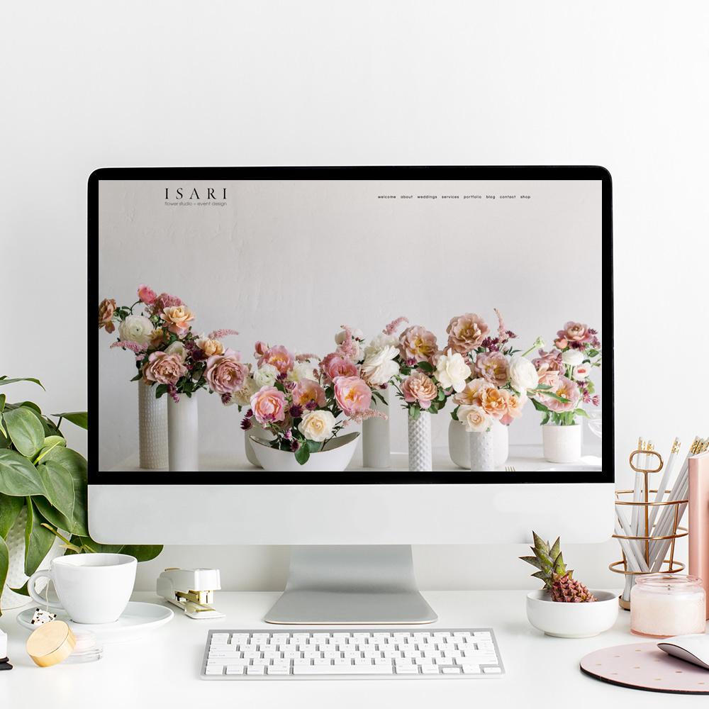 Website Design for Isari Flower Studio | The Editor's Touch | Luxury Web Designer