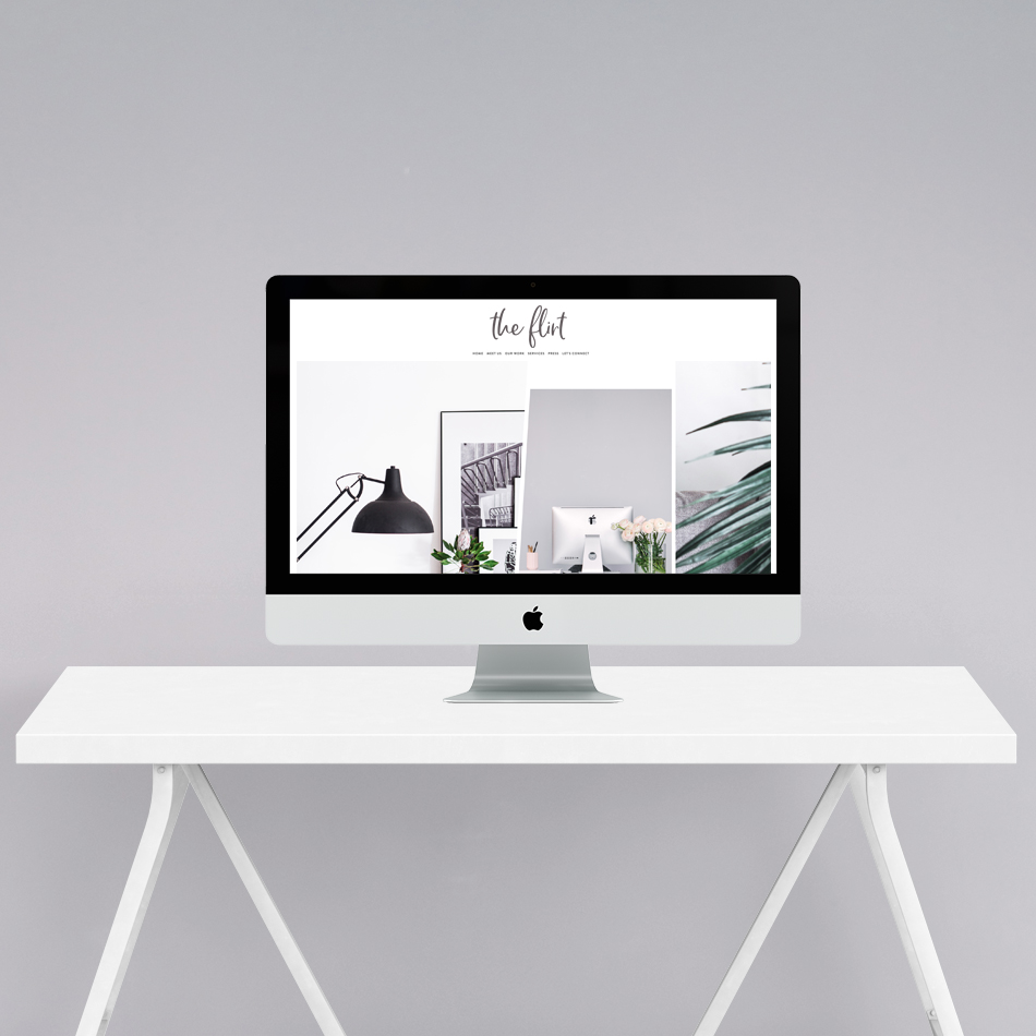Semi Custom Website Design by The Editor's Touch | The Flirt | Squarespace Website Designer