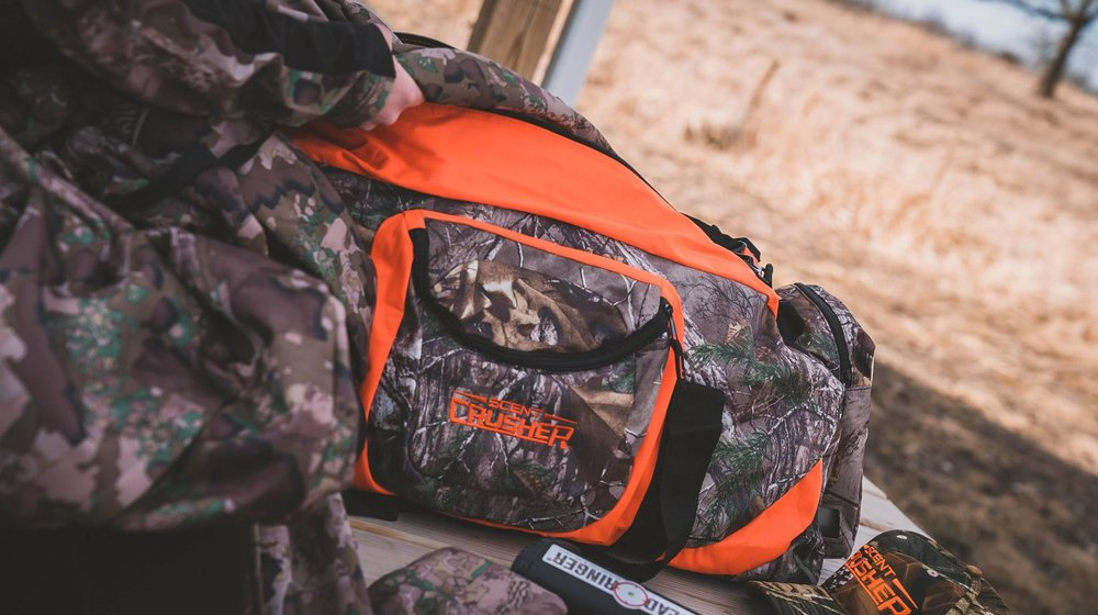 The NEW camo Scent Crusher Gear Bag.
