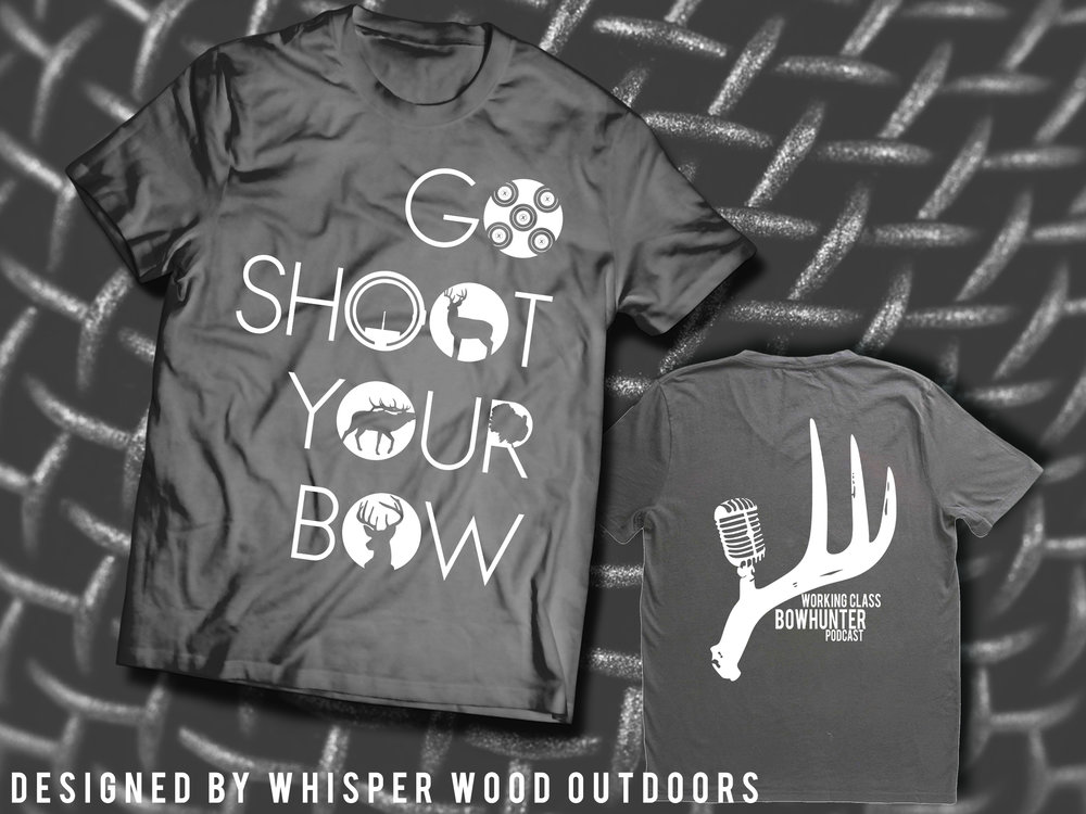 The NEW Go Shoot Your Bow Tee! Click the image to check it out!