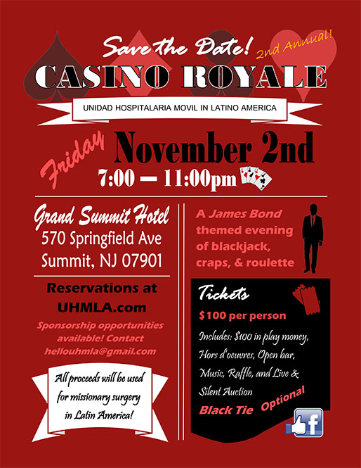 november 2nd fundraiser tickets casino royale uhmla