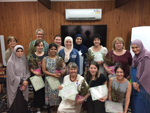 At the end of our wonderful series with the Muslim Women Association, our volunteers were gifted pot plants!