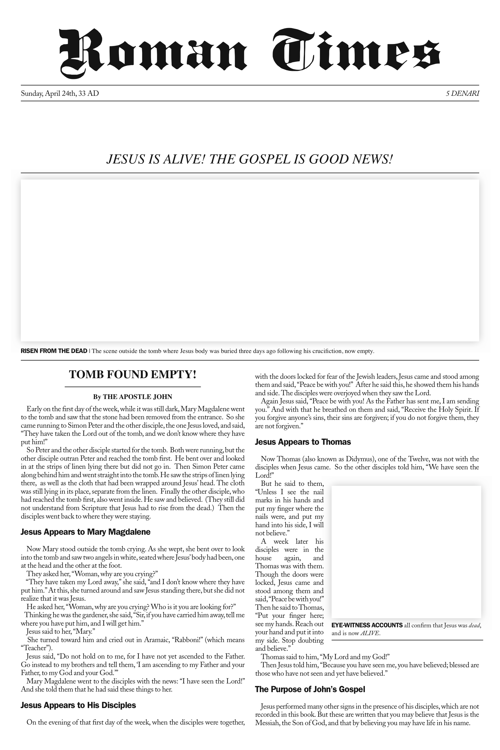 spread the good news easter art project — sojournkids