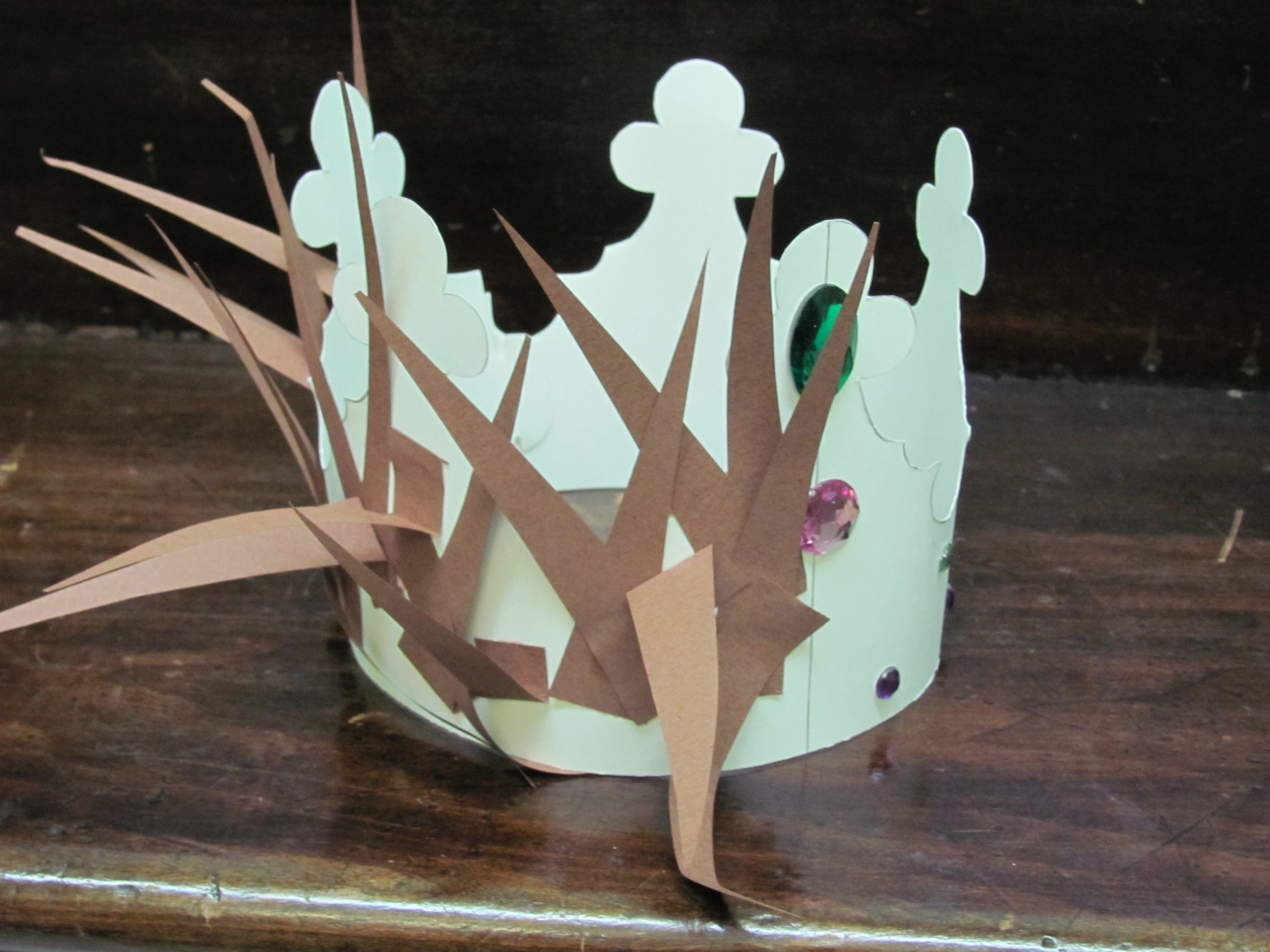Crown of thorns crown of glory art project sojournkids for Kids crafts for church