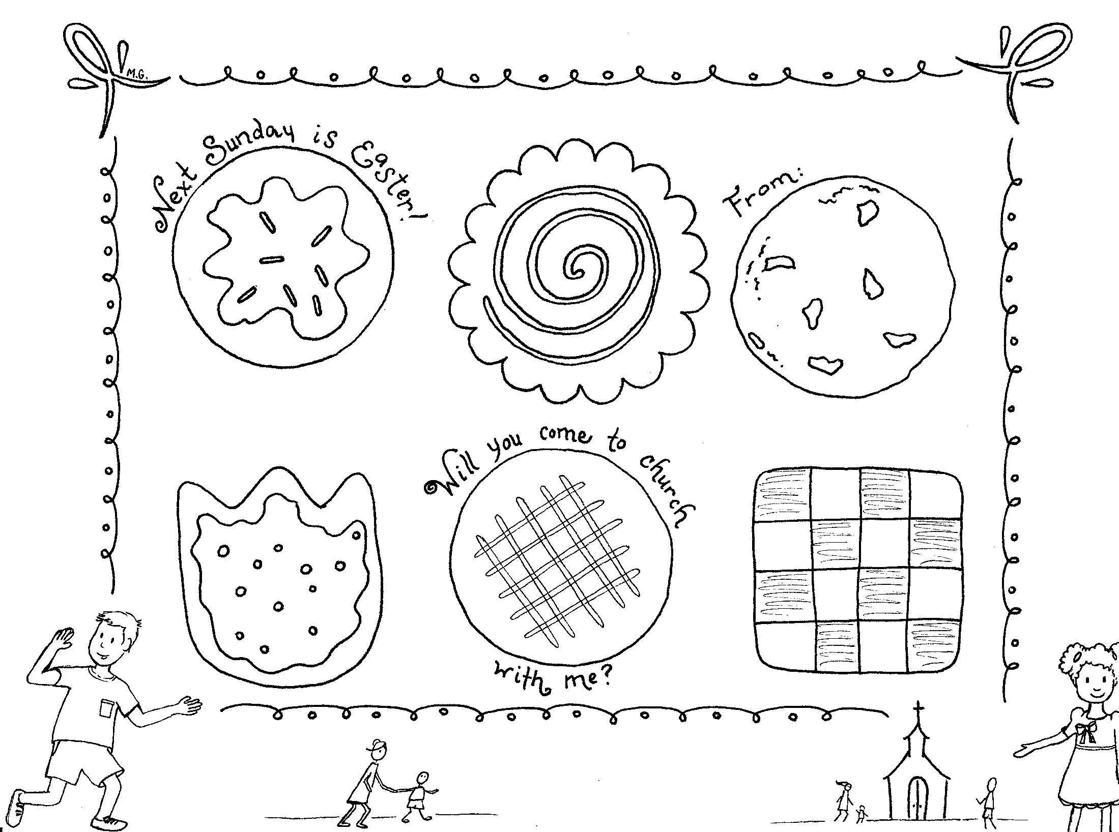 Easter Sunday Invitation Coloring Pages Sojournkids