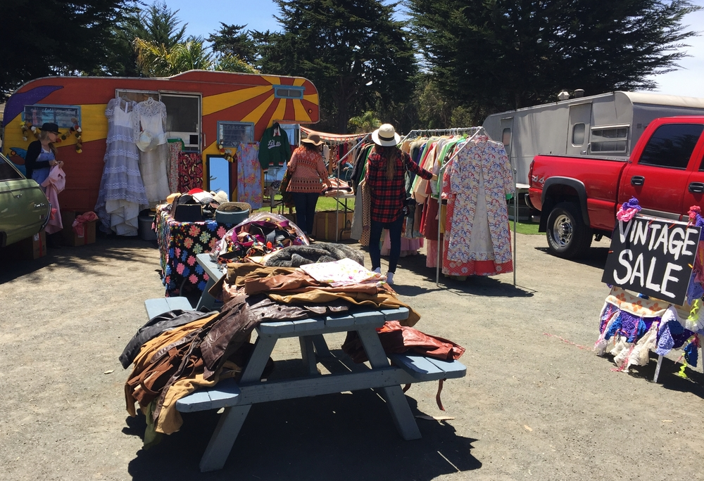 Fabulous vintage clothing at this booth! I totally see this in my future