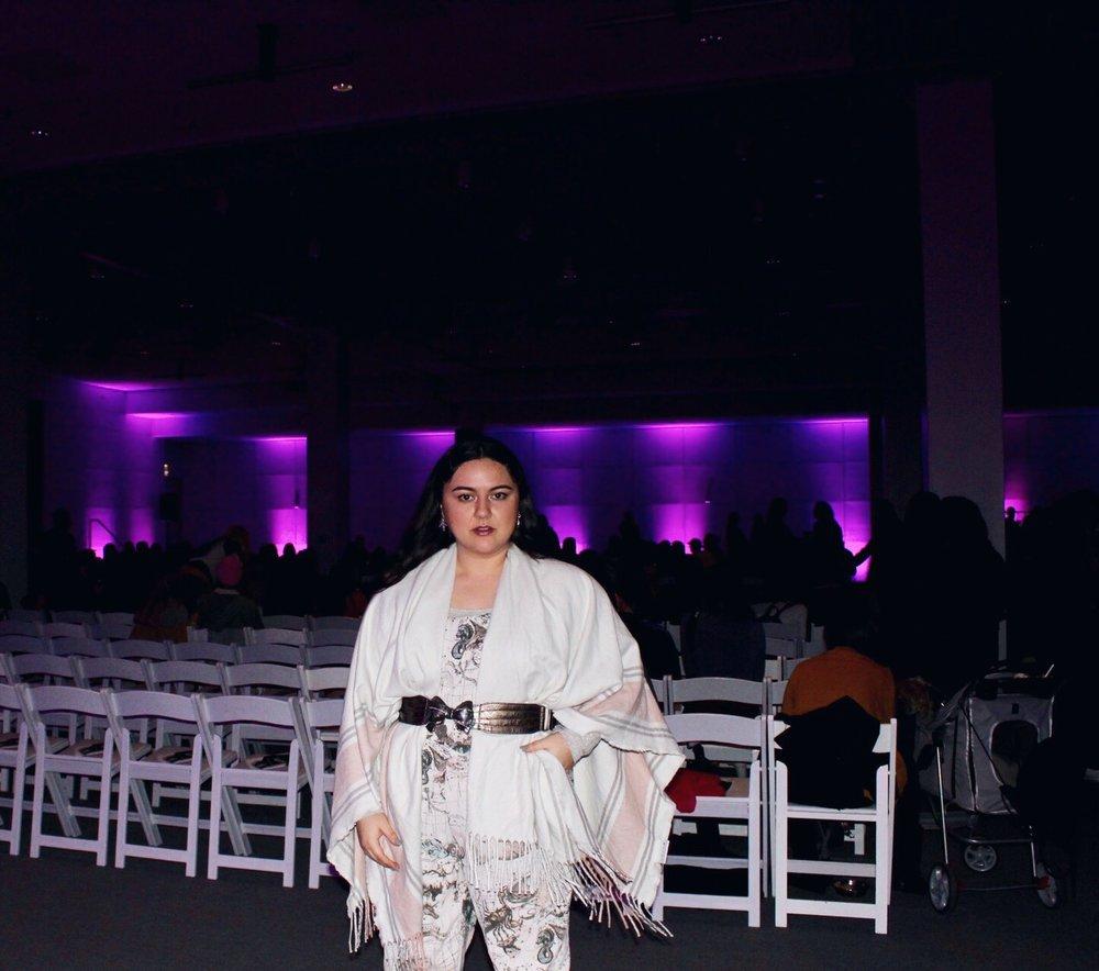 Blogger Vik Margarita at Vegan Fashion Week