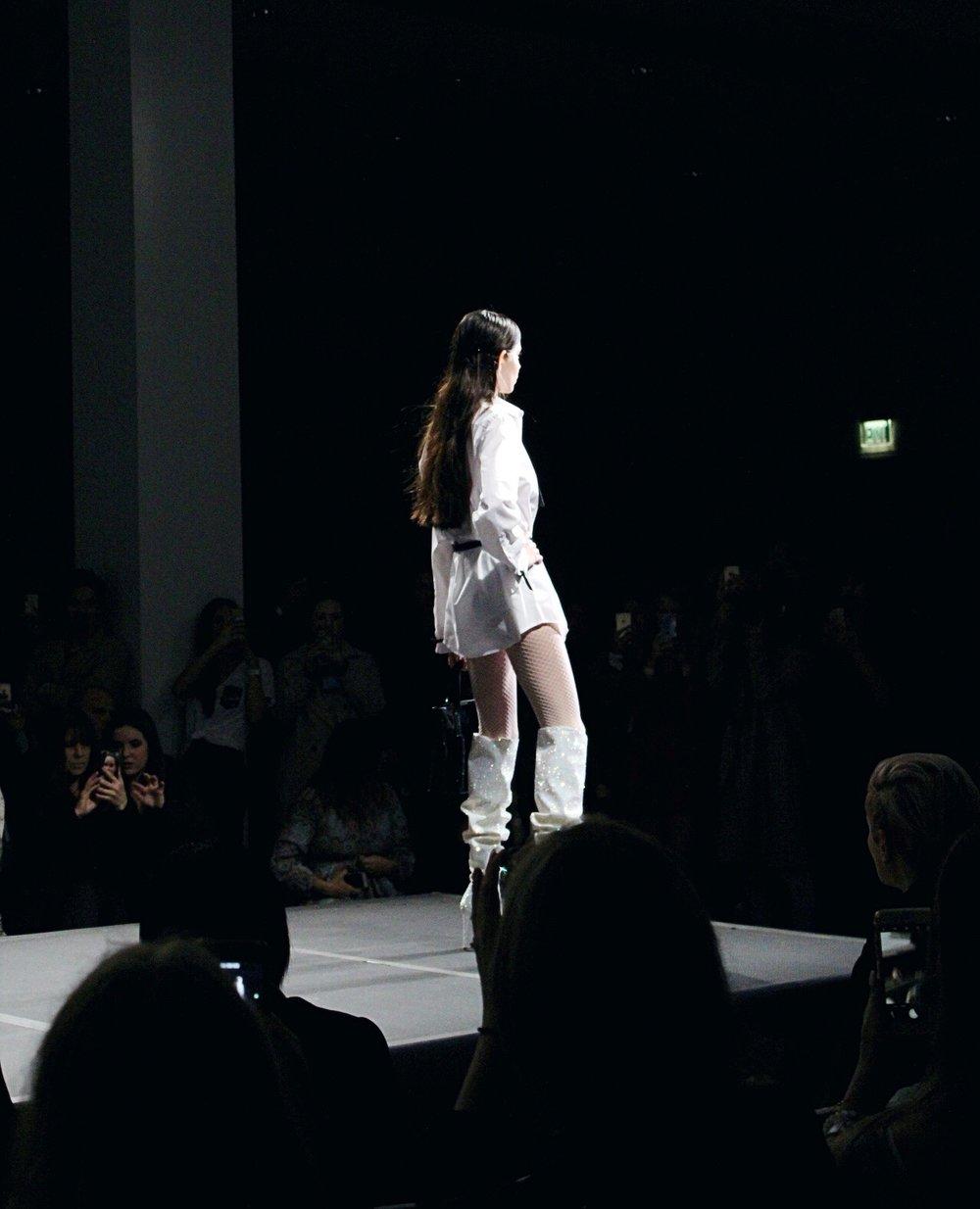 Model wearing  MINK shoes