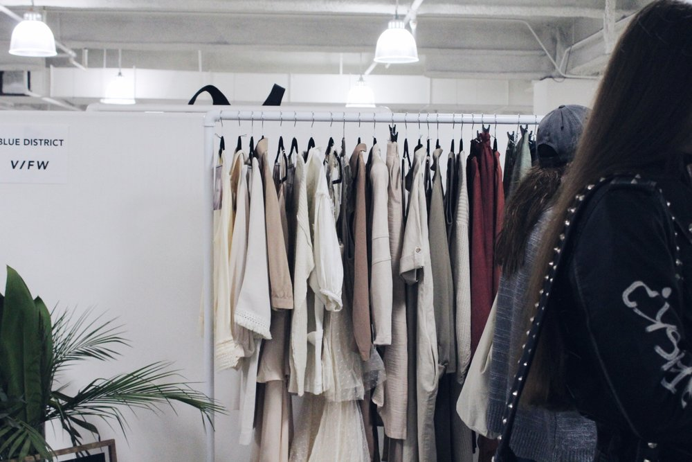 Rack of heavenly apparel by  Blue District