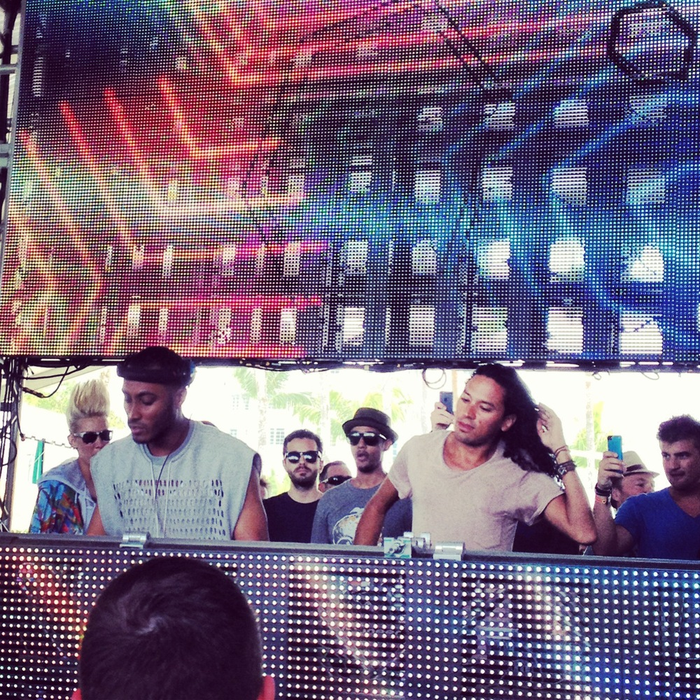 Sunnery James & Ryan Marciano playing at the All Gone Pete Tong party.