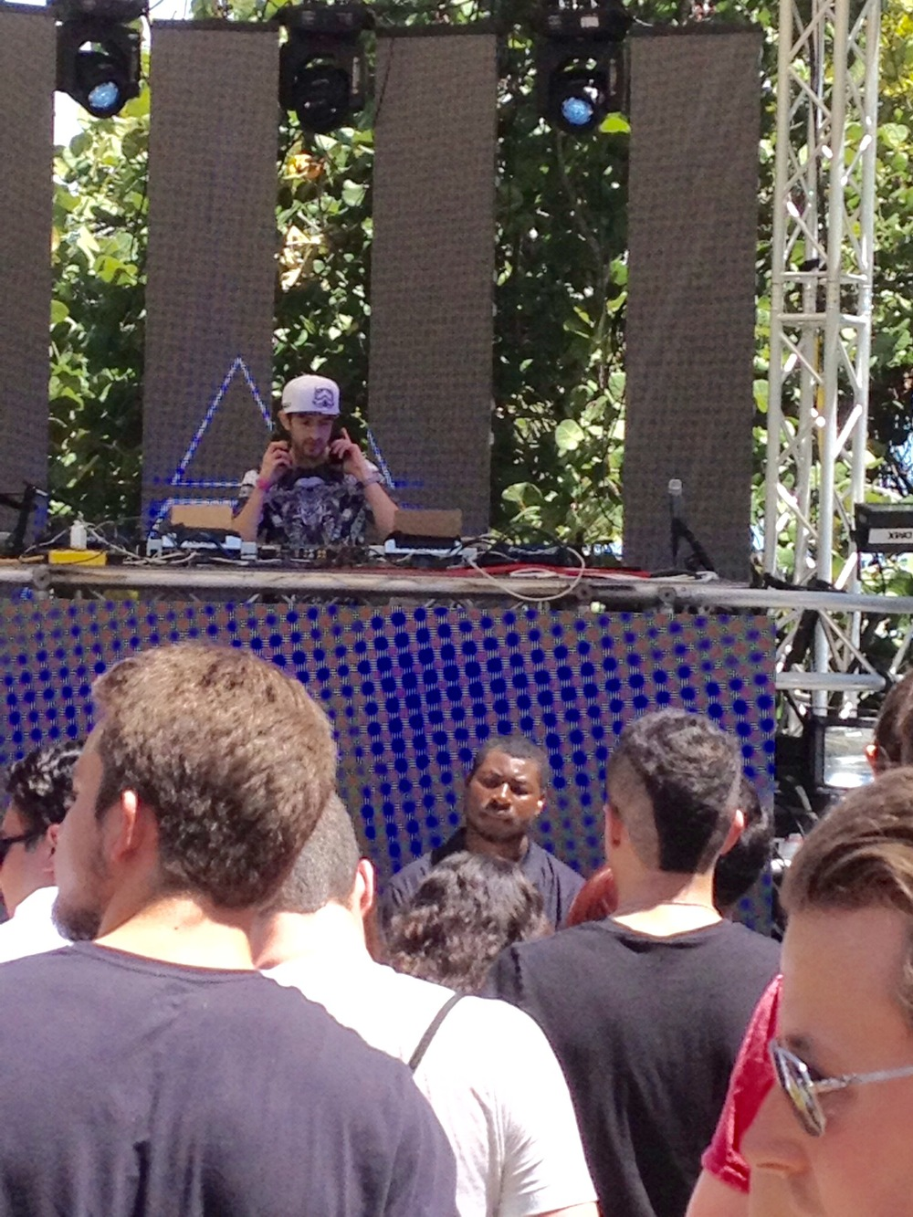 Mat Zo plays at the Anjunabeats pool party.
