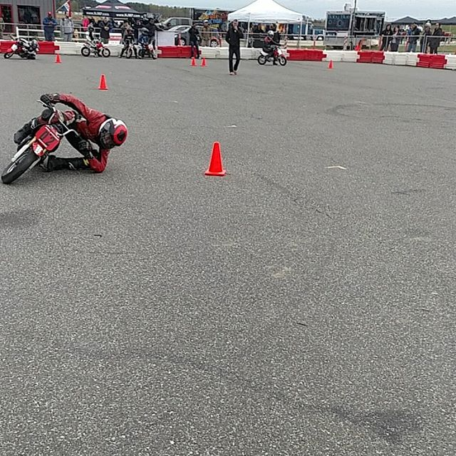 These kids may be small and thier motorcycles smaller, but these kids can ride...  This is William Moore Jr. dragging his elbows during a demonstration