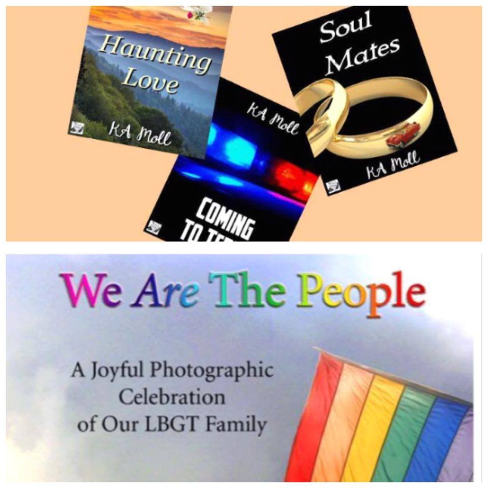 """Haunting Love"", ""Coming to Terms"", and ""Soul Mates"" by KA Moll - ""We Are The People"" by Gerri Shawn Luther."