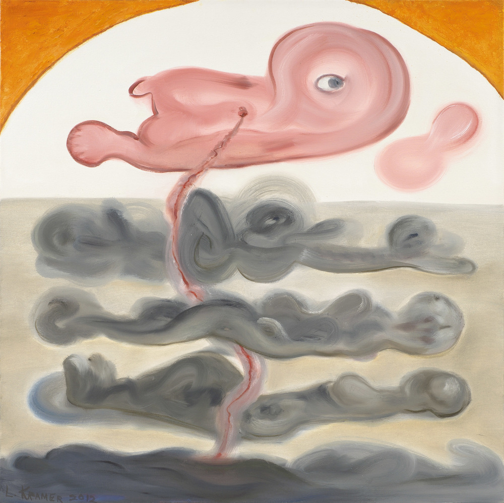 "Fetus With Four Figures 30""x30"""